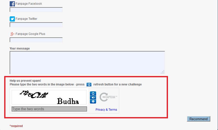 reCAPTCHA and Spring MVC integration – CodepediaOrg