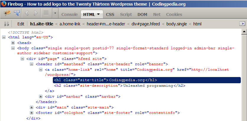 How To Add A Logo To The Twenty Thirteen Wordpress Theme Codepediaorg