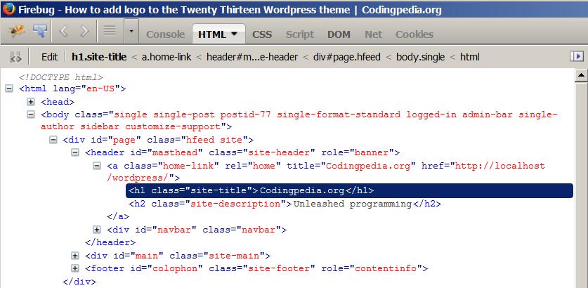 Firebug HTML inspector